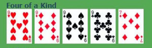 four of a kind poker hand