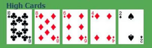 high cards in a poker hand