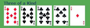 three of a kind poker hand